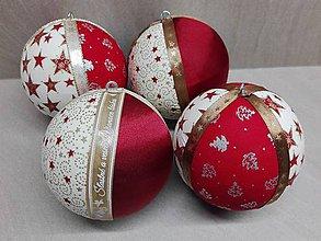 Dekorácie - Vianočné gule - 10236728_