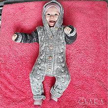 Detské oblečenie - Zimní pletený overalek - 10238237_