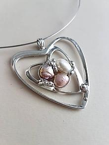 Náhrdelníky - Prívesok srdce 45_18 - 10235697_