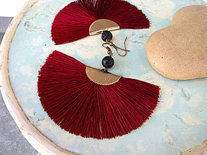 Náušnice - Náušnice vějíře - různé barvy - 10235080_