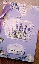 Papiernictvo - levanduľový receptár - 10235354_