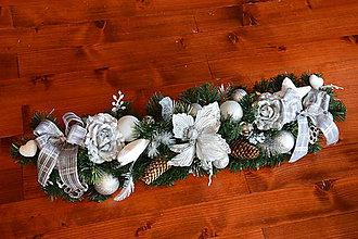 Dekorácie - Vianočná girlanda 60cm - rôzne farby - 10238371_