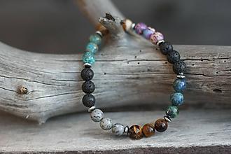 Šperky - Pánsky náramok s mixom minerálov - 10235803_