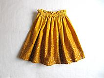 Detské oblečenie - sedemdesiat sukien mala... (mustard) - 10235504_