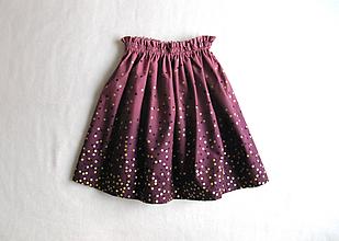 Detské oblečenie - sedemdesiat sukien mala... (baklažánová LEN JEDEN KUS!!!) - 10235541_