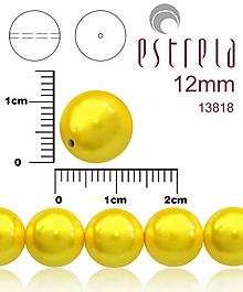 Korálky - Voskované perly zn.Estrela (13818 - pastelová žltá) 12mm, bal.8ks - 10236513_