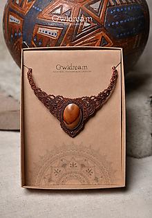 Náhrdelníky - Náhrdelník z drienkového dreva •Šamanka• - 10236002_