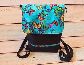 Veľké tašky - Kabelko batoh  Urban - butterfly - 10237068_