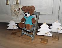 Dekorácie - Vianočný stromček s podstavčekom - 10240724_