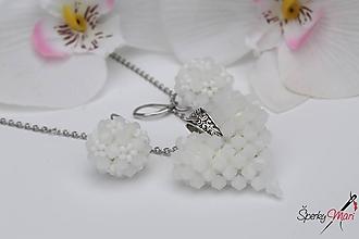 Náhrdelníky - prívesok srdiečko (srdiečko biele) - 10240086_