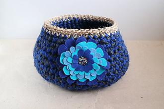 Košíky - modrý elegán - 10240863_