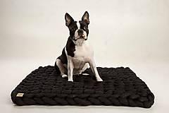 """Úžitkový textil -  Pletený koberček """"Extreme"""" (80x70cm - Čierna) - 10240244_"""