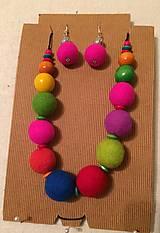 Náhrdelníky - Gypsy color - náhrdelník + náušnice - 10241743_