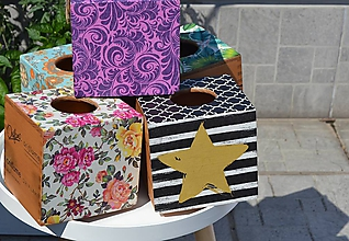 """Krabičky - Box na vreckovky """"Hviezda"""" - 10241960_"""