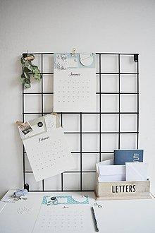 Papiernictvo - Listový kalendár na rok 2019 - 10240342_