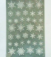 Papier - Sada samolepiek, 14x21 cm, Vianoce, glitrové 3D - 10238773_