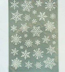 Papier - Sada samolepiek, 14x21 cm, Vianoce, glitrové 3D - 10238775_