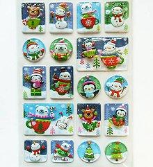 Papier - Sada samolepiek, 14x21 cm, vianočné, plastické, 3D - 10239196_