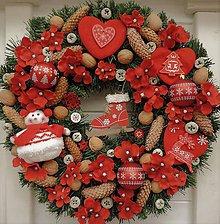 Dekorácie - Veľký vianočný veniec - 10240678_