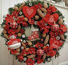 Dekorácie - Veľký vianočný veniec - 10240679_