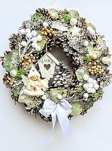 Dekorácie - Vianočný veniec - 10239830_