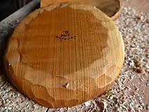 Nádoby - Čerešňový tanier masív, dlabaný - 10238781_