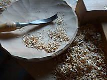 Nádoby - Čerešňový tanier masív, dlabaný - 10238785_