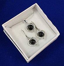 Sady šperkov - Srdiečková sada (čierna) - 10240647_