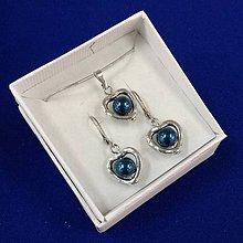 Sady šperkov - Srdiečková sada (modrá) - 10240656_