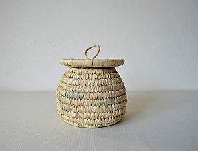 Krabičky - (Natural) ECO Prútená šperkovnica z palmových listov - 10240292_
