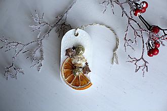 Dekorácie - Vianočný vonný plát - pomaranč II. - 10238772_