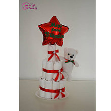 Detské doplnky - Vianočná plienková torta 5 - 10241124_