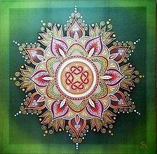 Obrazy - Mandala...Rodinné šťastie - 10241857_