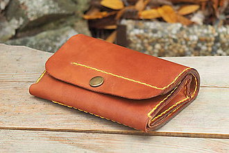 Peňaženky - Kožená peněženka MontMat -  ryzák tmavý - 10241634_
