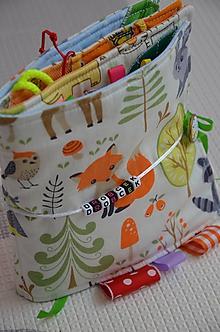Hračky - Knižka detská, látková drobček - 10241341_