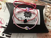 Náramky - Šnúrkový náramok Crystal Baby s príveskom Swarovski Heart - 10238986_