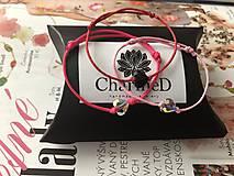 Náramky - Šnúrkový náramok Crystal Baby s príveskom Swarovski Heart - 10238987_