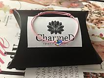 Náramky - Šnúrkový náramok Crystal Baby s príveskom Swarovski Heart - 10238988_