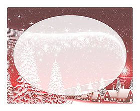 Papiernictvo - Samolepky na vianočné balíčky - dedinka - 10238669_
