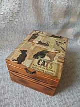 Krabičky - Krabice vysoká - krása dřeva kočky - 10241493_