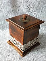 Nádoby - Krabička velká přírodní s poklopem - 10241537_