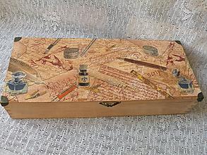 Krabičky - Krabice vintage s kovovými rožky - 10241463_