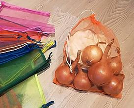 Úžitkový textil - Nákupné eko vrecko - stredné oranžové - 10240543_