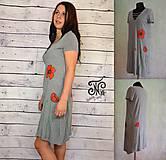 Šaty - ručne maľované- šaty Maky - 10239157_