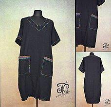 Šaty - Dúhou štepované - šaty - 10239080_