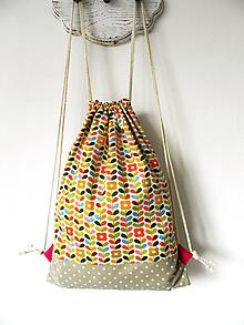 Detské tašky - Batoh pestrofarebné kvietky - 10241953_