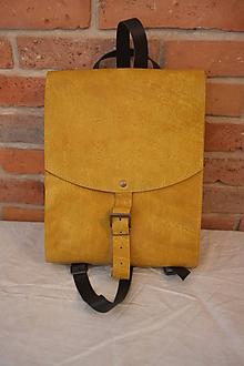Batohy - Kožený batoh urban - 10239379_