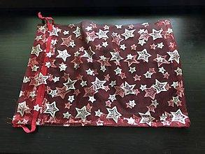 Obalový materiál - Vianočné organzové vrecúško - 10240027_