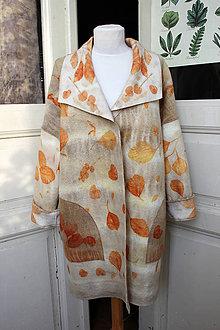 Kabáty - dámsky vlnený kabát - 10239162_