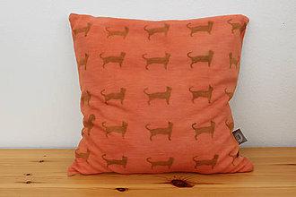 Úžitkový textil - obliečka na vankúš, mačka a pes, 40 x 40 - 10239247_